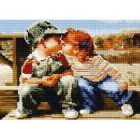 Paintboy QS200293 Алмазная мозаика 30х40 QS200293 Детский поцелуй