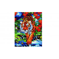 Paintboy QS200303 Алмазная мозаика 30х40 QS200303 Тигр в джунглях