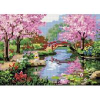 Paintboy QS200444 Алмазная мозаика 30х40 QS200444 Вишни в цвету