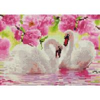 Paintboy QS200480 Алмазная мозаика 30х40 QS200480 Белые лебеди