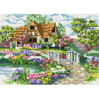Paintboy QS200667 Алмазная мозаика  30х40 QS200667 Дом у озера