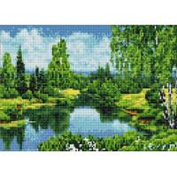 Paintboy QS200886 Алмазная мозаика 30х40 QS200886 Тихая заводь