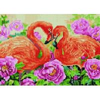 Paintboy QS201121 Алмазная мозаика 30х40 QS201121 Фламинго в цветах