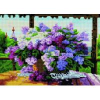 Paintboy QS201128 Алмазная мозаика 30х40 QS201128 Сирень на столе