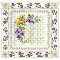 """Panna C-0575 Набор для вышивания """"PANNA"""" C-0575 ( Ц-0575 ) """"Пестрые цветы"""""""