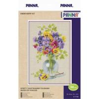 """Panna C-7155 Набор для вышивания """"PANNA"""" C-7155 """"Букет с анютиными глазками"""""""