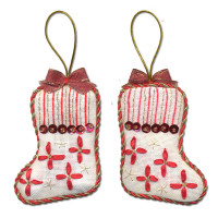 """Panna IG-1276 Набор для вышивания """"PANNA"""" IG-1276 ( ИГ-1276 ) """"Новогодняя игрушка. Сапожок"""""""
