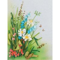 """Panna JK-2061 Набор для вышивания """"PANNA"""" """"Живая картина"""" JK-2061 ( ЖК-2061 ) """"Полевые цветы. Ромашки"""""""