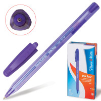 """PAPER MATE S0977330 Ручка шариковая PAPER MATE """"Inkjoy 100"""", ФИОЛЕТОВАЯ, корпус тонированный фиолетовый, узел 1,2 мм, линия письма 1 мм, S0977330"""