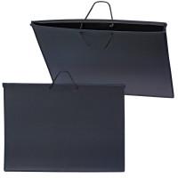 ПЧЕЛКА ПМ-А2-35 Папка для рисунков и чертежей А2, 640х470 мм, ПЧЕЛКА, с ручками, пластиковая, черная, ПМ-А2-35