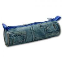 ПЧЕЛКА ПТ-01 Пенал-тубус (косметичка) дизайн джинсы, размер 200х65 мм, ПТ-01