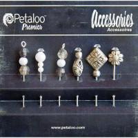 Petaloo 1474-123 Шпильки декоративные Bllack/White