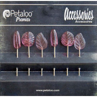 "Petaloo 1475-121 Шпильки декоративные ""Petaloo"" 1475-121 Glass Ornament Pins х 6 шт.-Dk.Rose"