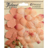 """Petaloo 208 Набор цветов из ткани """"Petaloo"""" 1257-208 Mixed Textured Layers х 12 -Ap"""