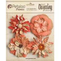 "Petaloo 1479-317 Набор цветов бумажных ""Petaloo"" 1479-317 Wild Blossoms х 4 -Paprik"