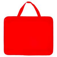 ПИФАГОР 228232 Папка на молнии с ручками ПИФАГОР, А4, пластик, молния сверху, однотонная красная, 228232
