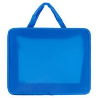 ПИФАГОР 228233 Папка на молнии с ручками ПИФАГОР, А4, пластик, молния сверху, однотонная синяя, 228233