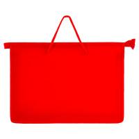 ПИФАГОР 228234 Папка на молнии с ручками ПИФАГОР, А4, пластик, молния сверху, однотонная красная, 228234
