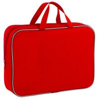 ПИФАГОР 228374 Папка для тетрадей с ручками ПИФАГОР, А4, ширина 80 мм, ткань, молния вокруг, красная, 228374