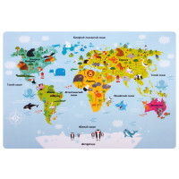 """ПИФАГОР  Настольное покрытие ПИФАГОР, А3+, пластик, 46x33 см, """"Map"""", 270403"""