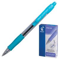 """PILOT BPGP-10R-F Ручка шариковая масляная автоматическая с грипом PILOT """"Super Grip"""", СИНЯЯ, голубые детали, узел 0,7 мм, линия письма 0,32 мм, BPGP-10R-F"""