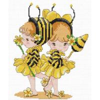"""Pinn №02 Набор для вышивания """"PINN"""" №02 08-H """"Девочки-пчелки"""""""