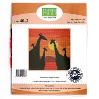 """Pinn №03 Набор для вышивания """"PINN"""" №03 40-J """"Африканские мотивы. Жираф"""""""