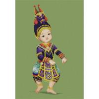 """Pinn №09 Набор для вышивания """"PINN"""" №09 TC-18 """"Тайский танец №3"""""""