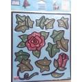 Plaid 16748 Набор витражных наклеек большой 16748 Розы и плющ
