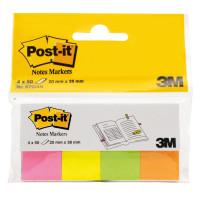 POST-IT (3M) 670-4N Закладки клейкие POST-IT, бумажные, 20 мм, 4 цвета х 50 шт., 670-4N