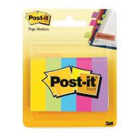 POST-IT (3M) 670-5AU Закладки клейкие POST-IT, бумажные, 12,7 мм, 5 цветов х 100 шт., 670-5AU