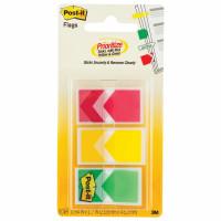 POST-IT (3M) 682-ARR-RYG Закладки клейкие POST-IT стрелки, пластиковые, 24 мм, 3 цвета х 20 шт., 682-ARR-RYG