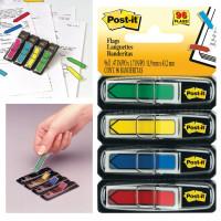 POST-IT (3M) 70071353604 Закладки клейкие POST-IT, пластиковые, 12 мм, 4 цвета х 24 шт., 70071353604
