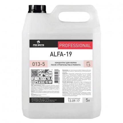 Средство для уборки после строительства 5 л, PRO-BRITE ALFA-19, кислотное, концентрат, 013-5 (арт. 013-5)