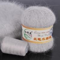 Mink wool 02 Норка длинноворсовая 02 светло серый