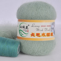 Mink wool 20 Норка длинноворсовая 20 оливковый