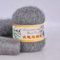 Mink wool 22 Норка длинноворсовая 22 темно серый