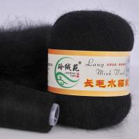 Mink wool 32 Норка длинноворсовая 32 черный