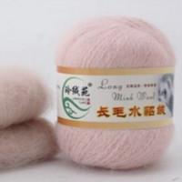 Mink wool 35 Норка длинноворсовая 35 розовый
