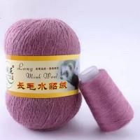 Mink wool 76 Норка длинноворсовая 76 лиловый