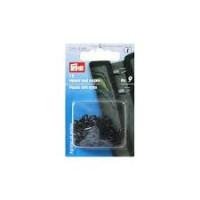 Prym 261458 Крючки и петли для куртки(железо) 9 черный цв.