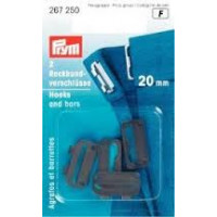 Prym 267250 Застежки для пояса юбки, пришивные (сталь) черный цв. 20 мм