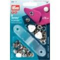 Prym 390111 непришивные кнопки Джерси (латунь) зубчатое кольцо, белый
