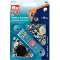 Prym 390211 непришивные кнопки для яхт (латунь) серебристый, вкручиваемые