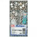 Prym 390241 Непришивные кнопки Спорт и кэмпинг (латунь) серебристый цв.
