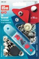 Prym 390301 Кнопки 'Анорак' (латунь) серебристый
