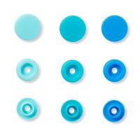 """Prym 393000 Кнопка """"PRYM"""" 393000 PL Color Snaps пластик d 12.4 мм 30 шт. св.голубые/голубые/синие"""