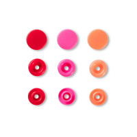 """Prym 393002 Кнопка """"PRYM"""" 393002 PL Color Snaps пластик d 12.4 мм 30 шт. красные/розовые/оранжевые"""