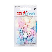 """Prym 393007 Кнопка """"PRYM"""" 393007 PL Color Snaps пластик d 12.4 мм 30 шт. розовые/голубые/перламутровые"""