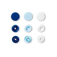 """Prym 393009 Кнопка """"PRYM"""" 393009 PL Color Snaps пластик d 12.4 мм 30 шт. синие/голубые/белые"""